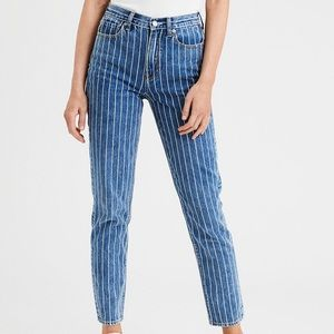 ‼️NWOT‼️ Striped American Eagle Mom Jeans